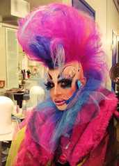 MardiGras 014 (danimaniacs) Tags: pink blue red drag colorful dress makeup wig mardigras sandiegomardigras2010