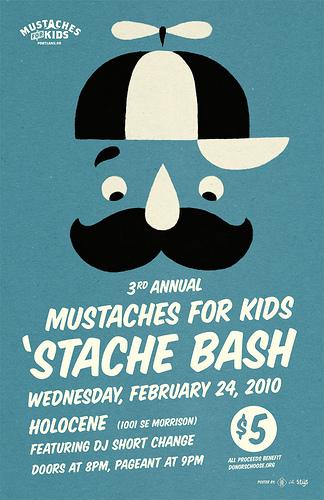 'Stache Bash Poster