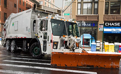 DSNY Finishes another Side  Street (Diacritical) Tags: newyorkcity snow brooklyn chains plow sanitation 36mm dsny 2470mmf28 mcneilus d700