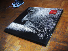 Stop frame canvas (.krayon) Tags: streetart art artwork acrylic arte expo handmade canvas halftone pixel tele limitededition esposizione posca livepaint acrilici krayon ortika