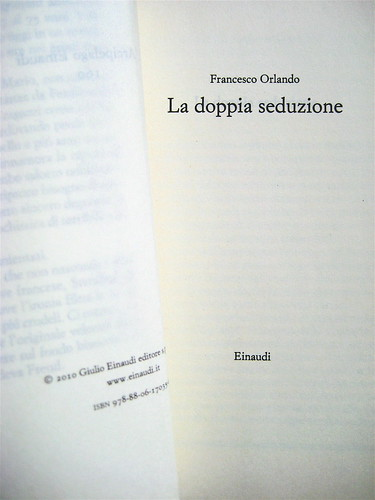 Francesco Orlando, La doppia seduzione, Einaudi 2010; frontespizio (part.)