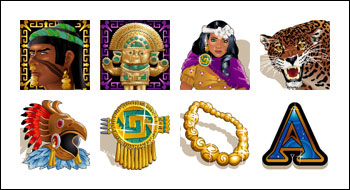 free Aztecs Treasure slot game symbols