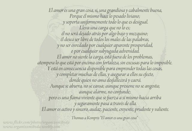 "Thomas a Kempris ""El amor es una gran cosa"""