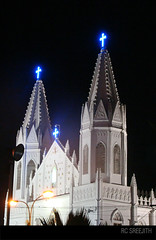 Velankanni @ night (RC Sreejith | ) Tags: church tamilnadu nagapattinam mothermary vailankanni velankanni jith1312 sreejithrc rcsreejith lordmary