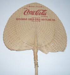 COCA COLA WICKER HAND FAN 1950'S (ussiwojima) Tags: advertising fan cola coke 50s soda cocacola wicker