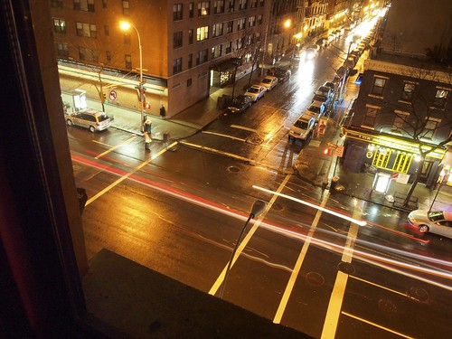 New York street in night