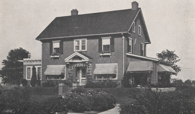 1722 Bedford Road Frank J Bornhauser Home Front View 1918 by UA Archives  Upper Arlington History