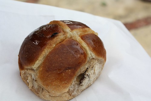 Hot cross bun...what you eat for Easter in Australia