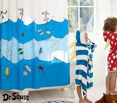 Dr. Seuss Shower Curtain, Pottery Barn Kids