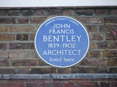 Photo of John Francis Bentley blue plaque