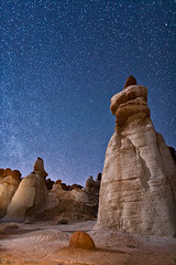 Blue Canyon star field (Mac Danzig Photography) Tags: longexposure blue arizona field rock night way landscape star desert canyon milky formations