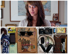 Staci Diptych (J Trav) Tags: camera portrait money film sunglasses umbrella notebook keys persona diptych sketchbook headphones whatsinyourbag pens staci iphone theitemswecarry