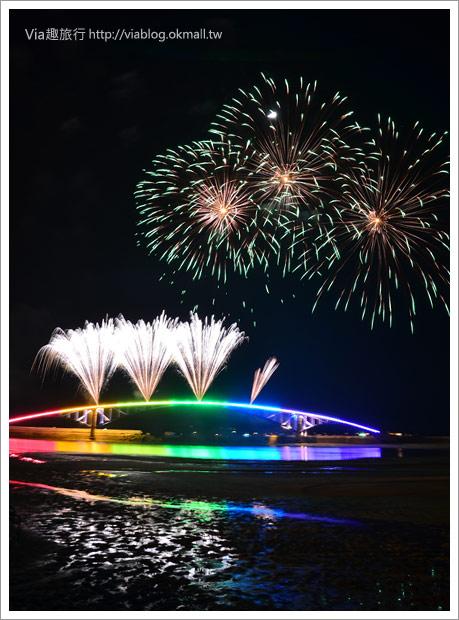 【澎湖花火節】2011澎湖海上花火節,浪漫的夏日海上煙花實況!9
