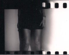 In the corner (frcknr) Tags: bw legs analogue exposed canonrebel2000 contactprint