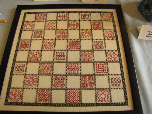 Birmingham Embroiders Guild Exhibition 30 May 2011 (4) - Chessboard by Janet Molloy (Blackwork)