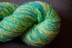 Sport weight wool and cotswold curls