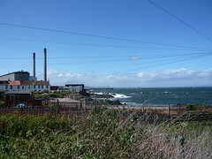 Sea and Power station (dizzyjones) Tags: sea sky powerstation eastlothian cockenzie 3harboursartsfestival
