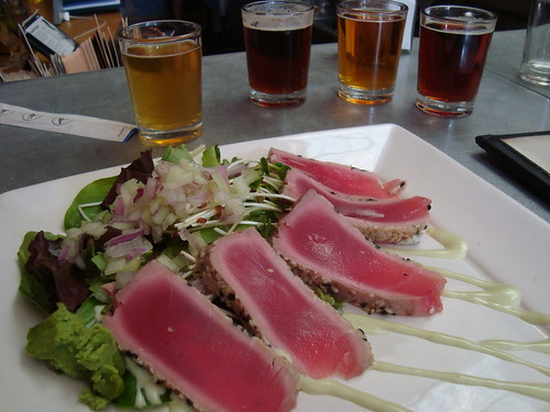 Ahi w Beer Sampler