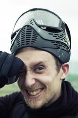 Paintball 03 (Vantzz) Tags: portrait color 50mm mask paintball sourire masque