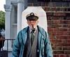 His name's David, he wears a captain's hat and smokes a pipe (deepstoat) Tags: street 120 mamiya film mediumformat 80mm mamiya7ii autaut deepstoat