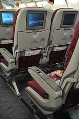 [01:01] QR economy seating. (A380spotter) Tags: seat 200 airbus a330 qr doh qatar qatarairways qtr  stateofqatar dohainternational a7ack  dawlatqatar aldiwan economycabin  otdb dohlgw qr0075  flight20102009qr0075dohlgw21b0652