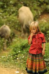 A Blondie? (mcmenami) Tags: trip travel people mountain asian nikon asia southeastasia vietnamese market sale hill chinese vietnam marketplace local oriental tribe orient sapa hmong d300