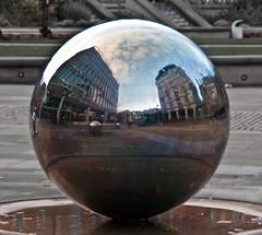 ORB! (EvilBoris) Tags: distortion reflection photography globe geek sheffield orb reflect sphere orbs amateur distort travelphotography evilboris