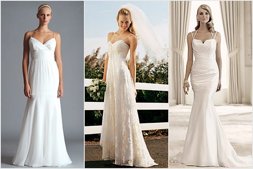 decolletage wedding dress