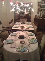 Preparing the dining table for my birthday dinner tonight (Sander Potjer) Tags: sander iphone potjer sanderpotjer