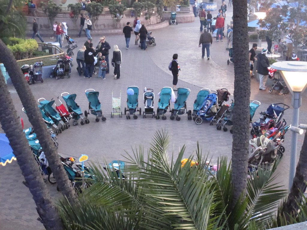 Strollers in circle
