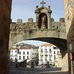 Cáceres: arco estrella interior