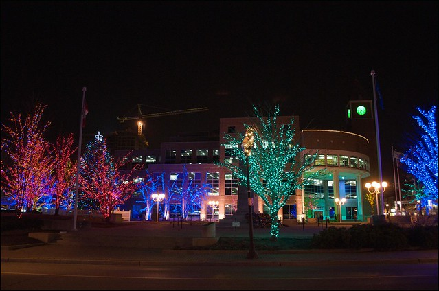 Brampton City Hall Xmas Decorations. Again this year they have done a great