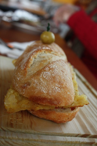 Tortilla espanola bocata