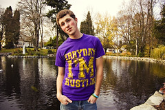 Erryday I'm Hustlin' (Karen Ready) Tags: park autumn lake fall leaves yellow clothing pond model purple im guitar fresh garrett shirts solo singer buy their hella hustlin lachney erryday