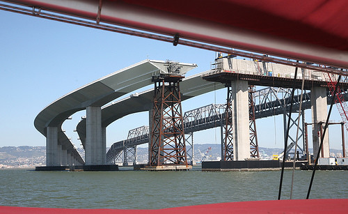 The new span of the Bay Bridge in progress. Photo by jitze on Flickr
