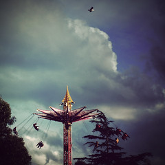 I can fly higher than you (Kerrie McSnap) Tags: show carnival sky bird clouds square flying nikon fair melbourneshow d60 500x500 royalmelbourneshow