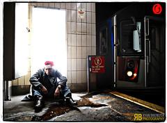 Merry Freaking Christmas! (Ryan Brenizer) Tags: christmas nyc portrait man subway gothamist merrychristmas brendan 6train strobist sb900 nikond3s sigma24mmf18dc