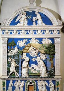 Andrea della Robbia, Natività, 1485 ca. Sansepolcro, Museo Civico