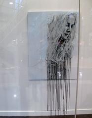 Alena 1 - gallery install (.indigo.) Tags: art stencil indigo canvas alena aydengallery fionagarden