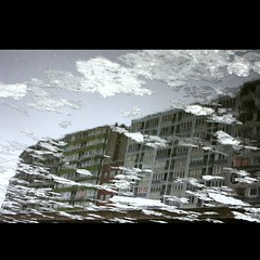 From under the water... (Math__) Tags: snow ice architecture frozen liege reflexion glace meuse wonter