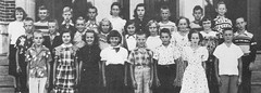 Students of Grades 5 and 6 of St John School in Seward, Nebraska, in 1952