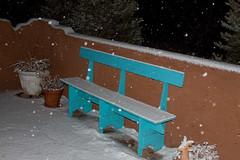 Snow's started here in Santa Fe.