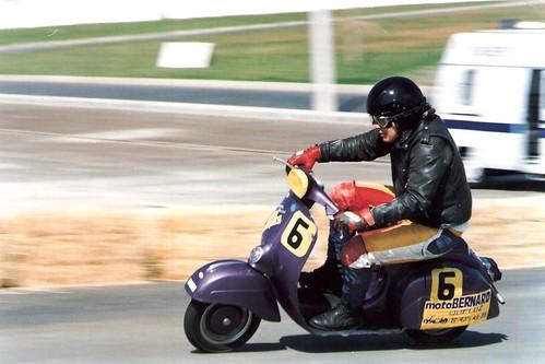 Classic bikes racing, Évora 1994,rider Paulo Vila