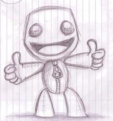 LBP Sackboy sketch - doodle