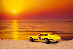 Model Car Sunset