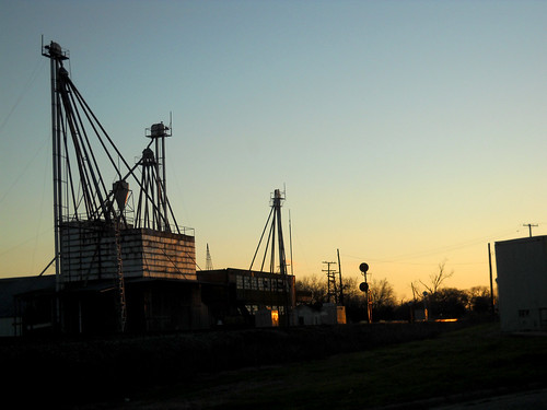 Ive been enamored with this old abandoned grainery since high school. Thought it looked, well, beautiful in the sunset.