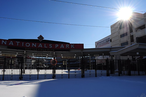 Nationals Park in the Snow