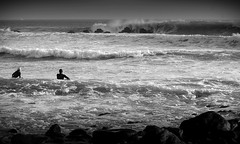 Treacherous Paddle Out - Dana Point (stryderphoto) Tags: ocean sea blackandwhite beach rocks surfing pacificocean surfers danapoint rockyshoreline terrysenate stunningcapture powerfulwaves surfingdanapoint finetunedbyterrysenate powerfulsurf treacherouspaddleout