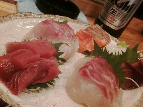 #tachinomi 上野カドクラの刺し盛り1,000円、これ美 味いよ!