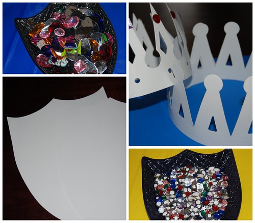 Paper Shields and Crowns Craft Project